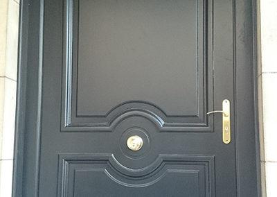 Porte d'entrée en Chêne laquée noire