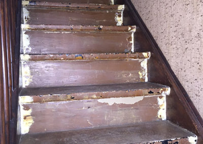 Escalier rénovation - AVANT