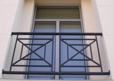 Fenêtre Aluminium, gris métallisé