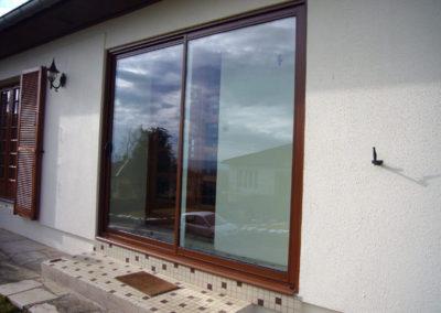Fenêtre Aluminium, marron satiné