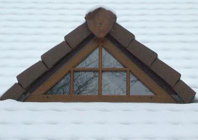 Fenêtre bois lasuré Chêne foncé