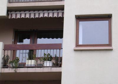 Fenêtre PVC, ton bois
