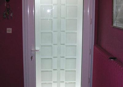 Porte d'entrée Alu blanche intérieur