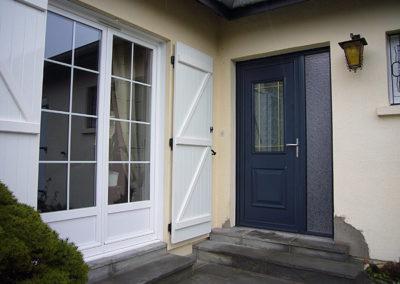 Porte d'entrée Alu bleu gris