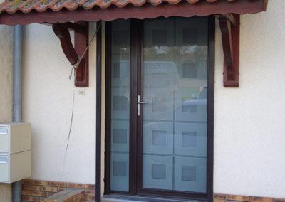 Porte d'entrée Alu bronze