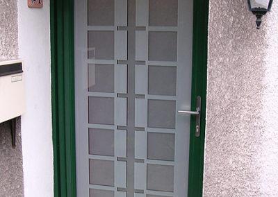 Porte d'entrée Alu vert extérieur