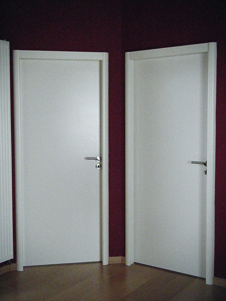 Porte interieur blanc for Porte interieure pvc