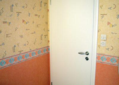 Porte intérieure, laqué blanc