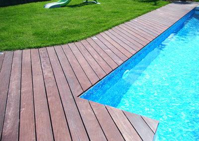 Plancher de terrasse Ipé, saturateur bois rouge