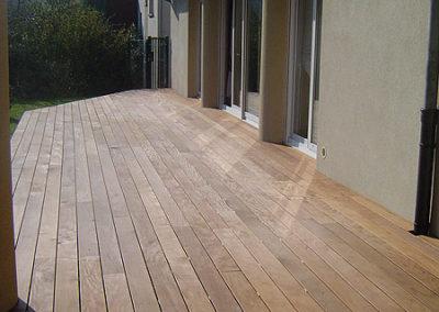Plancher de terrasse Ipé, saturateur incolore