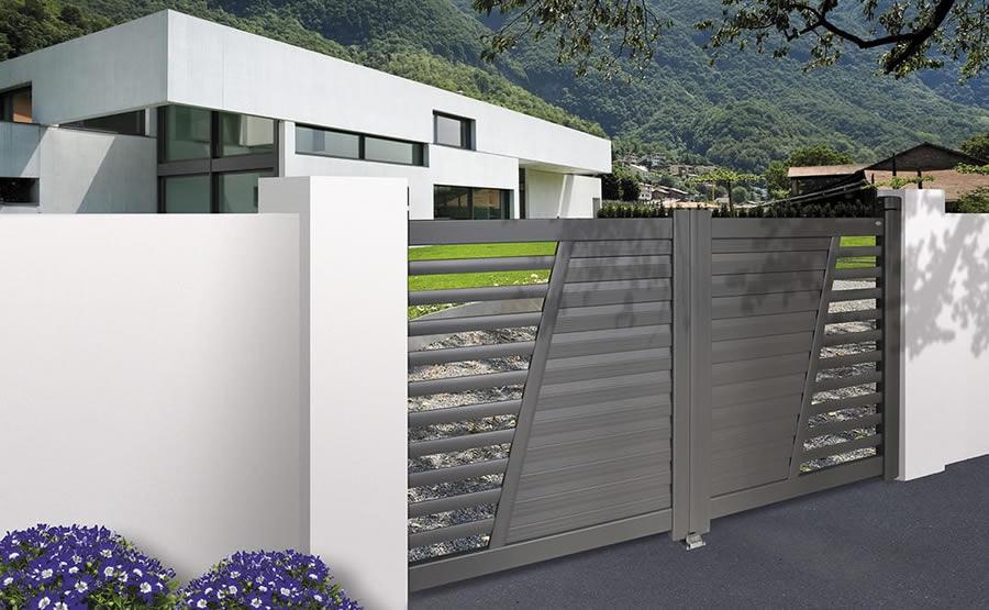 Portail aluminium gamme contemporaine design