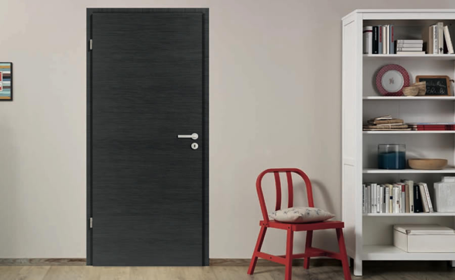 renovation porte d intrieur porte interieure pleine anthracite moderne with renovation porte d. Black Bedroom Furniture Sets. Home Design Ideas