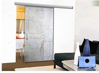 Portes d'intérieur en verre coulissantes